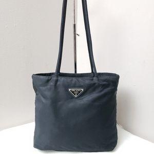 100% Authentic PRADA nylon black tote